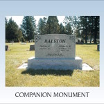 Companion monument with design
